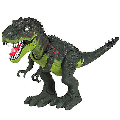 1x Real Movement Kids Toy Walking T-Rex Dinosaur Toy Figure With Lights & Sounds