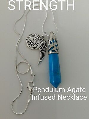 Code 668 Howlite Pendulum Infused Necklace Doreen Virtue Certified Practitioner