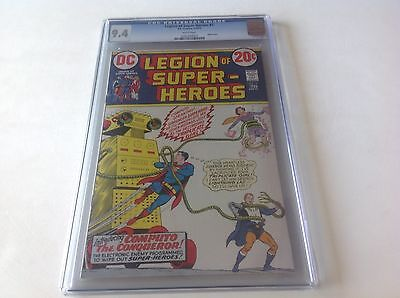 Legion Of Super-Heroes 3 Cgc 9.4 White Pages Superboy Dc Robot Cover