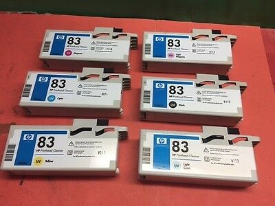 GENUINE HP #83 UV INK PRINTHEAD CLEANER SET OF 6  Save Right Here! C4960A C4961A