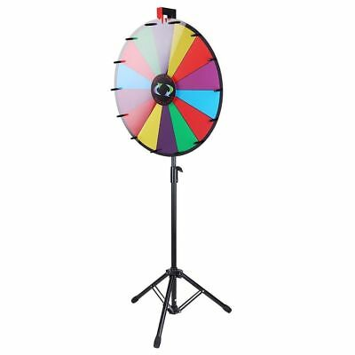 """WinSpin™ 24"""" Color Prize Wheel Fortune Floor Stand Carnival Spin Game NIB"""