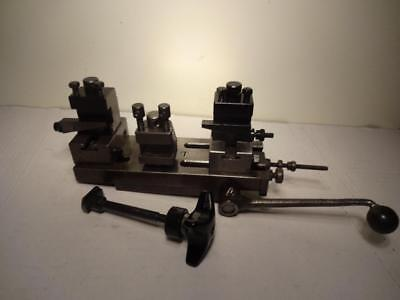 Schaublin #70 Lathe Lever Operated Cutoff Carriage W/risers & 3 Toolholders