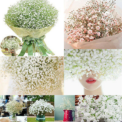 Romantic Baby's Breath Gypsophila Silk Flowers Bridal  Party Wedding Home Décor