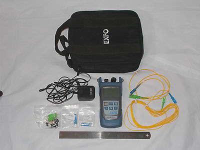 EXFO FOT-300 Optical Loss Test Set OLTS w/ Accessories and Carrying Case