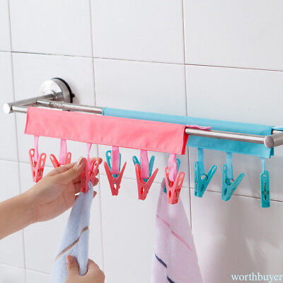 Clothes Drying Rack Folding Hanger Bathroom Hanger Clothes Clips WB15R