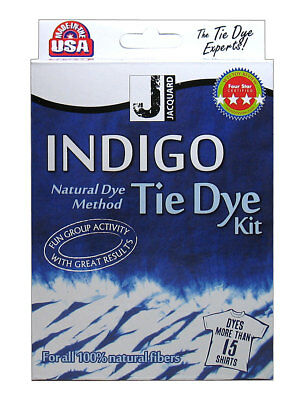 NEW INDIGO Tie Dye Kit - Jacquard dyes up to 15 t-shirts, 2.26kg of fabric