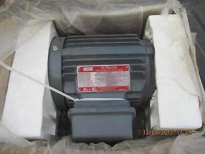 Mie Ultraline High Efficiency 3 Phase 1 Hp Electric Motor Brand New