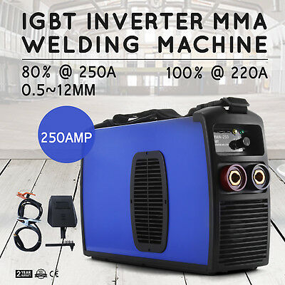 MMA-250 Inverter Welding Machine ARC E-HAND Welder Portable 80%@250A