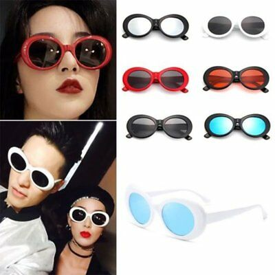 Unisex Clout Goggles Sunglasses Rapper Kurt Cobain Oval Shades Grunge Glasses