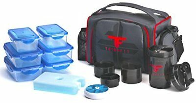 ThinkFit Insulated Lunch Boxes with 6 Portion Control Containers, Reusable