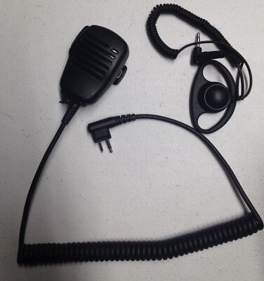 Lapel Speaker MIC With Ext Ear Piece For Motorola CP150 CP200 PR400 BPR40 EP450