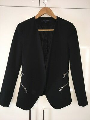 French Connection Zip Detail Black Blazer Jacket