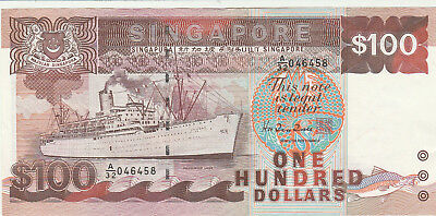 Singapore $100 dollar ship series note A/UNC