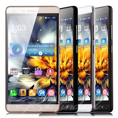 "Unlocked 5"" Touch Quad Core Mobile Phone Dual SIM GPS Android Smartphone GSM UK"
