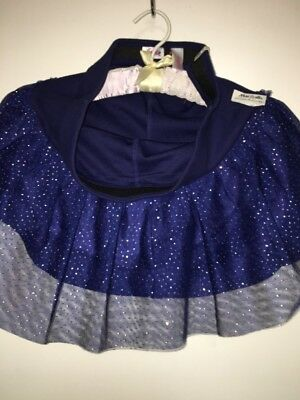 NWT Navy Blue Justice Girls Skort w/ Sparkly Tulle, Size 16, Holiday Sparkle!!