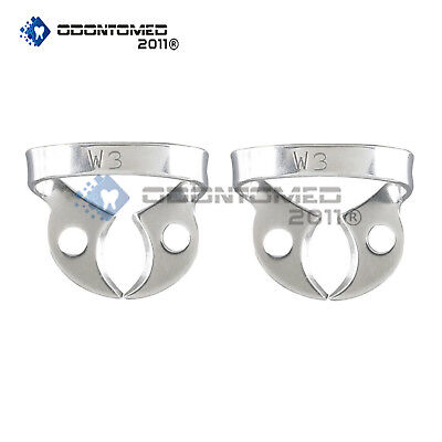 2pcs Rubber Dam Clamps #W3 For Lower Molars, NEW Dental Instruments Surgical