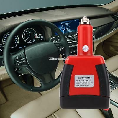 150W Professional Car Power Inverter Charger Adapter 12V DC to 110V AC ElR8
