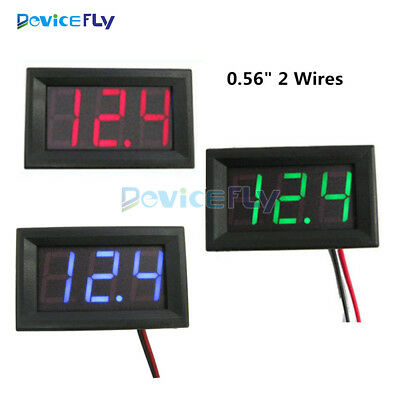 "0.56"" LED Digital Tube Digital DC4.5/4.7/5V-30V 3 Voltmeter Voltage Panel Meter"