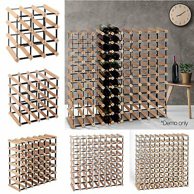 Wine Holder Timber Wine Rack Wood Storage Organiser Stand 12 20 42 72 110 Bottle