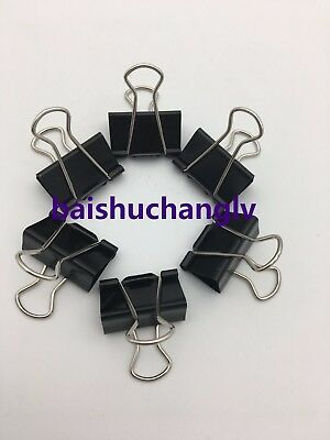 12Pcs Binder Clip 25mm Metal Classic Office Stationery Paper Documents Clip Hot