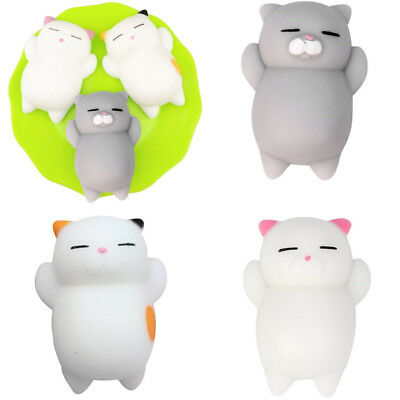 3Pcs Mini Doux Mochi Chat Squishy Animal Fidget Presser Anti-stress Souple Jouet
