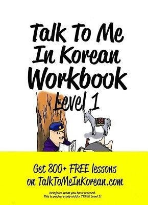 NEW Talk To Me In Korean Workbook Level 1 GET 800+FREE Lessons Hangul to Learn