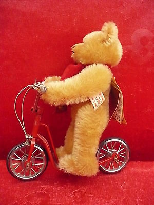 beautiful,high quality Teddy bear __Hermann__Limited edition__on scooter_