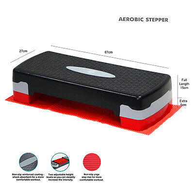 Exercise Aerobic 2 Level Adjustable Stepper Yoga Fitness Gym Home Training Step