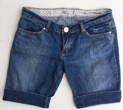 Riders by Lee Women's Blue Denim Causal Shorts Size 14