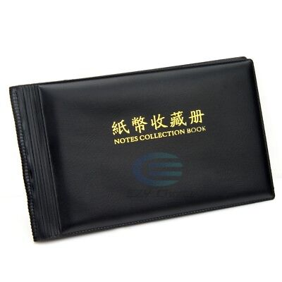 Bank Note Stock Collection Collecting Album Storage Money Holder Pocket Coin AU