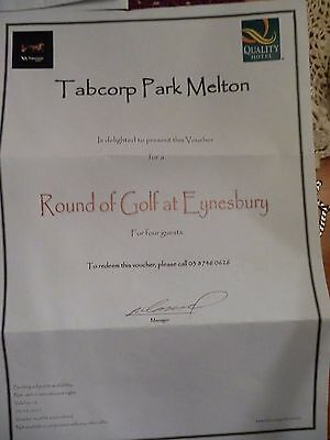 Golf Voucher For Four Quests Plus Two Carts At Eynesbury Golf Course