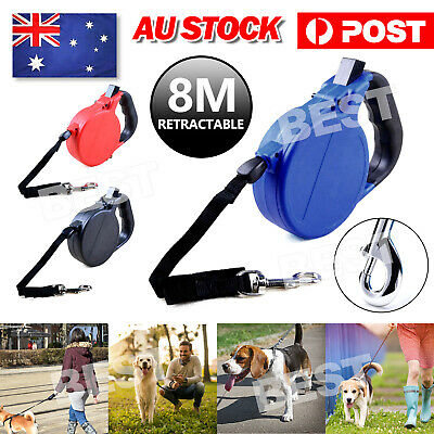 8M Dog Cat Pet  Extendable Retractable Traction Rope Training Walking Lead Leash