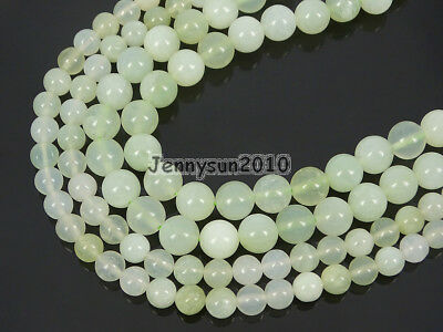 Natural New Jade Gemstone Round Spacer Loose Beads 15.5'' 4mm 6mm 8mm 10mm 12mm