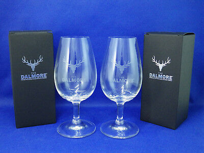 THE DALMORE SCOTCH WHISKY 2x Nosing Glasses NEW with Box B