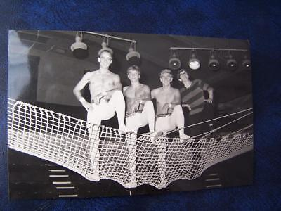 Theatre Music Hall Theatrical History Acts - Trapeze act  blank backed