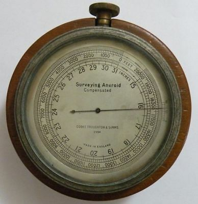 Barometer.Schiffsbarometer.Surveying Aneroid Compensated.Cooke Troughton & Simms