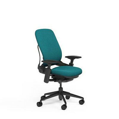 New Large Steelcase Leap PLUS Adjustable Desk Chair - Buzz2 Cyan Fabric 500 lb