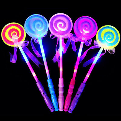 Led Light Flashing Fairy Magic Wand Princess Lollipop Girl Xmas Gift Wondrous
