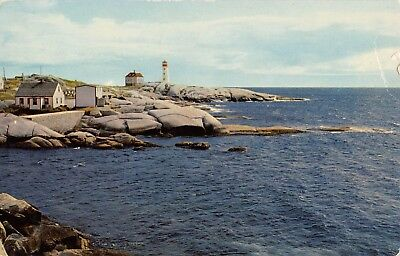 Halifax Nova Scotia ~ Peggy's Cove on South Shore ~ 1956 ~ VTG Postcard 2-09