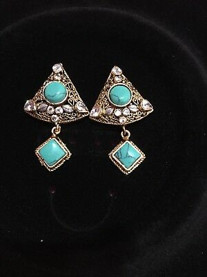 pakistani Indian jewellery.  Beautiful earrings with real gems