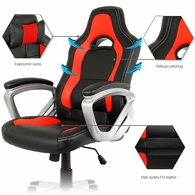 PU Leather High Back Swivel Executive Chair Adjustable Computer Desk Chair