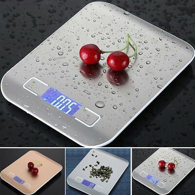 10kg Stainless Steel Digital LCD Electronic Kitchen Cooking Food Weighing Scales