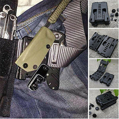 Multi Camping Outdoor Belt Clip Gear K Sheath Scabbard Waist For Clamp Hunting