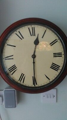Antique Wooden Schoolhouse Clock