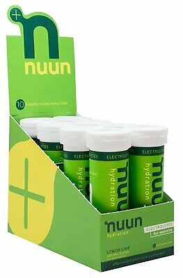 Nuun Hydration Electrolyte Drink Tablets, Lemon Lime, 10 Ct Case Of 8 Pack Of 3