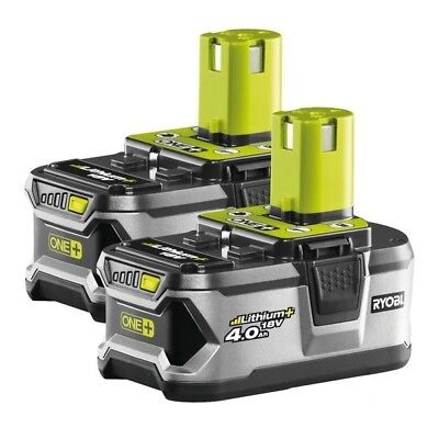 2 x Genuine RYOBI ONE+ Battery Li-Ion - RB18L40 18.0V 4.0Ah(72Wh) BRAND NEW