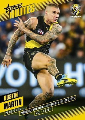 2017 Afl Select Hilite Hilites Finals Richmond Tigers Dustin Martin Card Rare