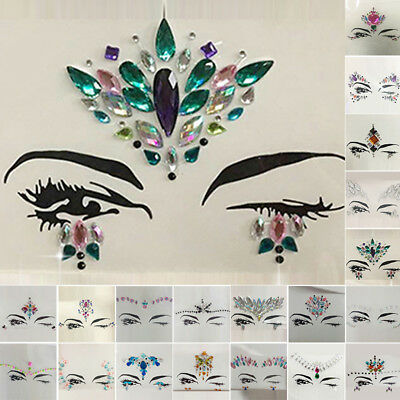 Acrylic Resin Stickers Tattoos Crafts Face Body Art Painting Festival Decor New