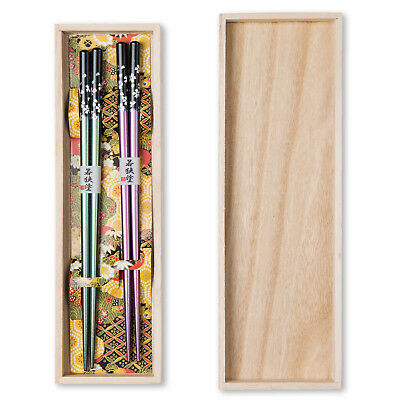 Pink and Green Japanese Chopstick Set