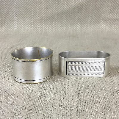 Silver Plated Napkin Ring Rings Art Deco Mixed Lot Holder Engine Turned